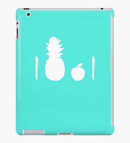 Pen Pineapple Apple Pen (White) iPad Case/Skin