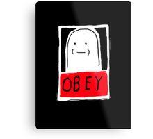 OBEY white Metal Print