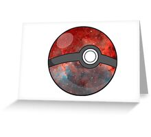 Galaxy Pokeball  Greeting Card