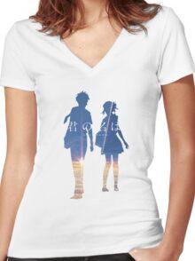 Kimi no na wa Women's Fitted V-Neck T-Shirt