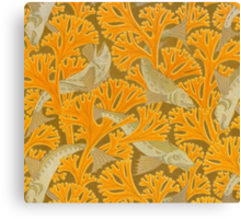 Vintage Art Deco Fish and Yellow Coral Canvas Print
