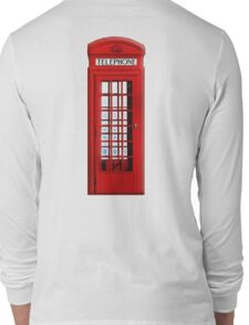 Red, telephone, box, Kiosk, London, England, British, UK Long Sleeve T-Shirt