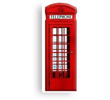 Red, phone, telephone, box, Kiosk, London, England, British, UK Canvas Print