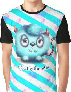 Little Blue Monster - Stripes Graphic T-Shirt