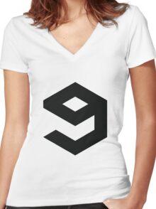 9gag Logo Women's Fitted V-Neck T-Shirt