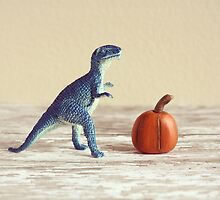 Mr. Dinosaur With Pumpkin  by TheyComeAlong