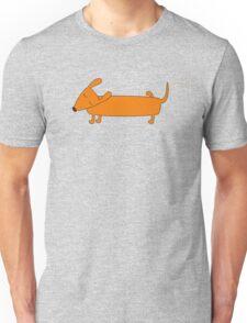 Cute pissing dachshund Unisex T-Shirt