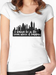 The Room Where It Happens Women's Fitted Scoop T-Shirt