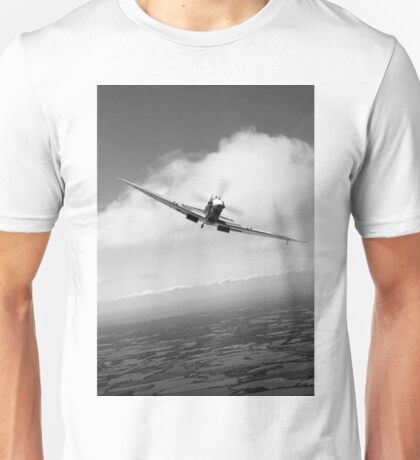 Spitfire poster head-on B&W version Unisex T-Shirt