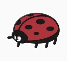 LADYBUG, Cartoon, LADYBIRD, Lady Bird, Lady Bug,  One Piece - Short Sleeve