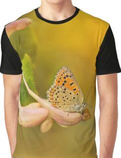 Phengaris teleius butterfly on honey suckle flowers Graphic T-Shirt