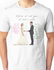 Olicity Wedding - Everything Changed Unisex T-Shirt