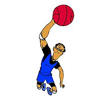 Cartoon Basketball Player Photographic Print