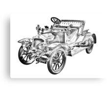 De Dion Bouton Antique Car Illustration Canvas Print