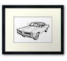 1966 Pontiac Lemans Car Illustration Framed Print