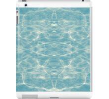 Ripple light mirror blue #3 iPad Case/Skin