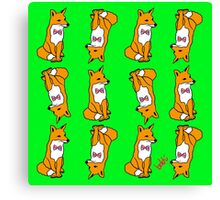 British Fox Pattern Canvas Print