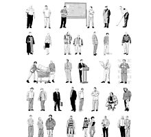 52 Characters From The Wire by Uheq