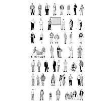 52 Characters From The Wire Photographic Print