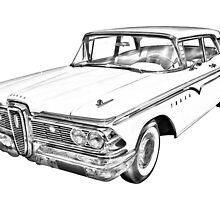 1959 Edsel Ford Ranger Illustration by KWJphotoart