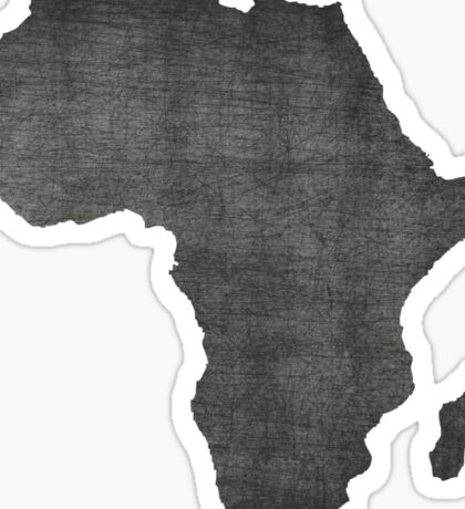 Africa vintage  map on grey background Sticker