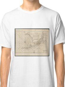 Vintage Map of The Florida Keys (1771) Classic T-Shirt
