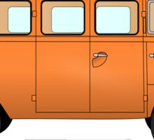 VW, combi, Volkswagen, Van, VW, Camper, Orange, Split screen, 1966 Volkswagen, Kombi (North America) Sticker