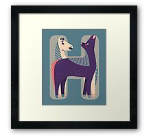H for Horse Framed Print