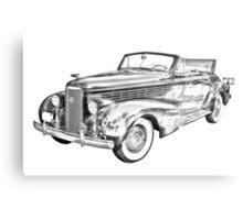 1938 Cadillac Lasalle Illustration Metal Print