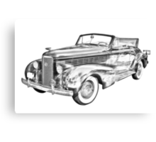 1938 Cadillac Lasalle Illustration Canvas Print