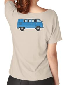 VW, combi, Volkswagen, Van, VW, Camper, Blue, Split screen, 1966 Volkswagen, Kombi (North America) Women's Relaxed Fit T-Shirt
