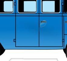 VW, combi, Volkswagen, Van, VW, Camper, Blue, Split screen, 1966 Volkswagen, Kombi (North America) Sticker