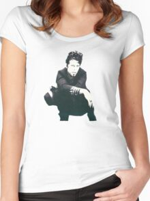 Tom Waits Image Women's Fitted Scoop T-Shirt