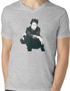Tom Waits Image Mens V-Neck T-Shirt