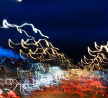 Cars driving motion night lights Sticker