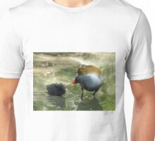 Common Moorhen and Baby Unisex T-Shirt