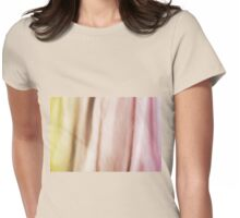 Blurry silk cotton textured cloth Womens Fitted T-Shirt
