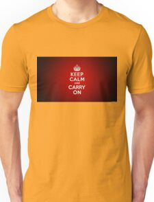 Keep calm and carry on Unisex T-Shirt