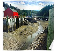 Halls Harbour NS by Snow Poster