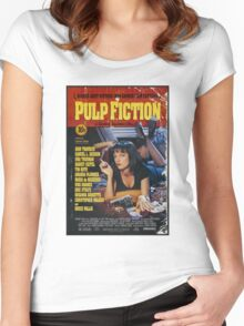 The Pulp Fiction Poster Women's Fitted Scoop T-Shirt