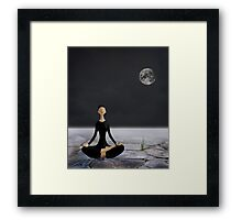 Let yourself drift through time and space Framed Print