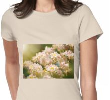 Aesculus chestnut tree blossoms anthers Womens Fitted T-Shirt