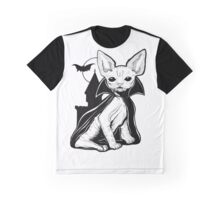 Cat Dracula Graphic T-Shirt