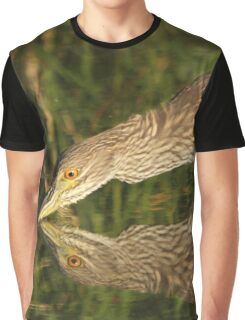 Mirror mirror on the wall who is the fairest heron of all? Graphic T-Shirt