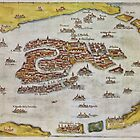 Vintage Map of Venice (1649)  by BravuraMedia