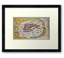 Vintage Map of Venice (1649)  Framed Print