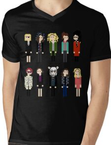 Pixel Clones - 10 Mens V-Neck T-Shirt