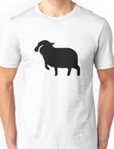 Sheep Silhouette Unisex T-Shirt