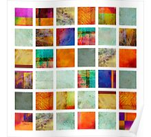 Color Block Collage - original abstract art Poster