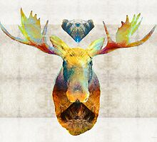 Mystic Moose Art by Sharon Cummings by Sharon Cummings
